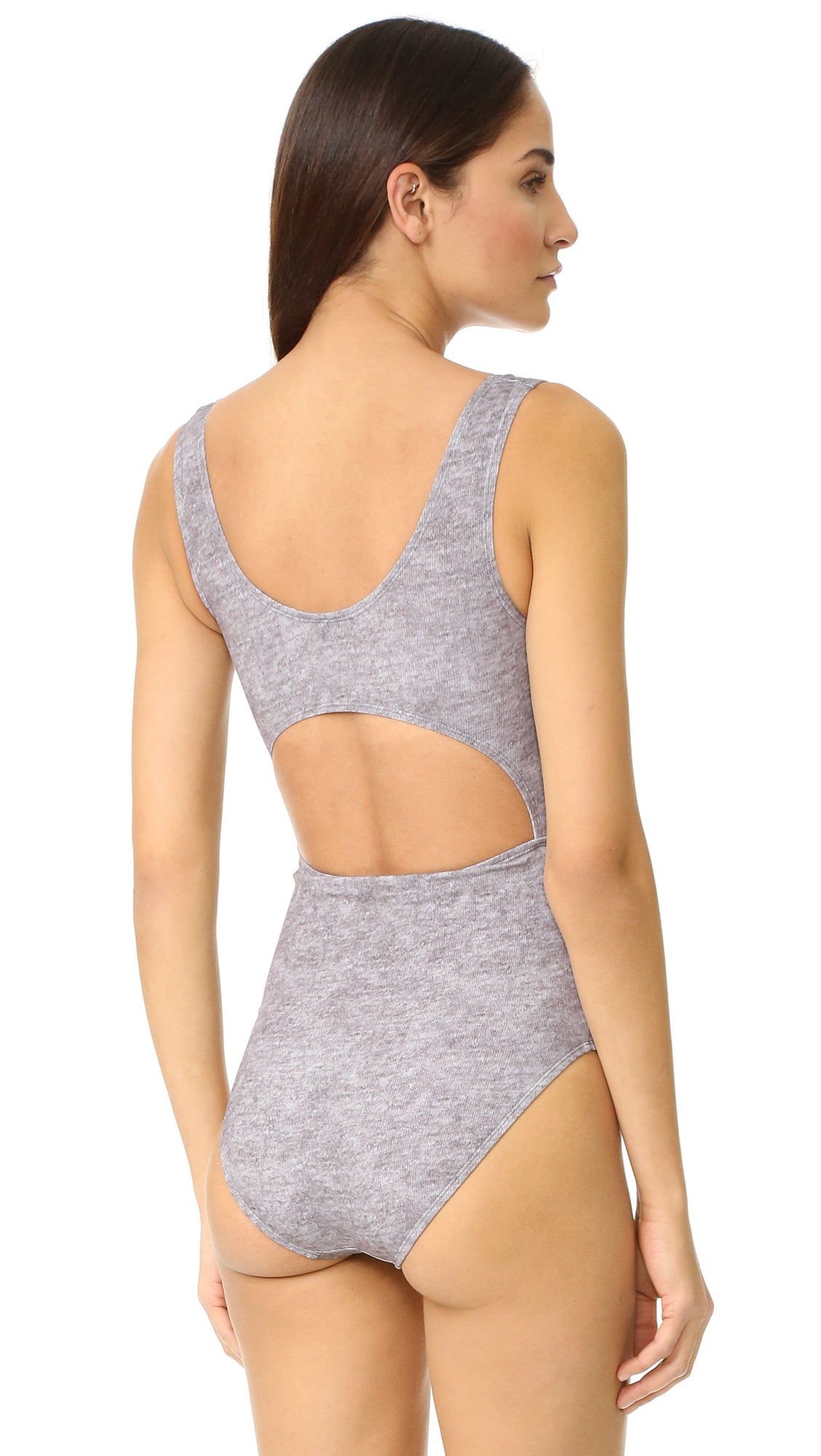 KNOT ONE PIECE - GREY HEATHER