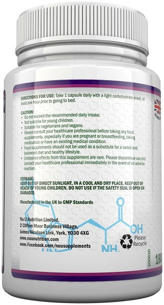 Nu U Nutrition 5-HTP 400mg Griffonia Seed Extract