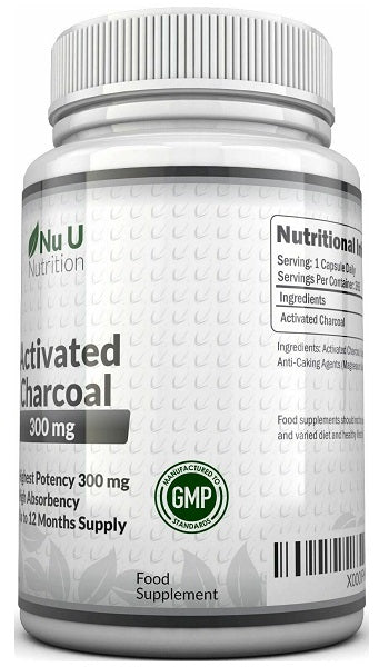 Nu U Nutrition Activated Charcoal 300mg