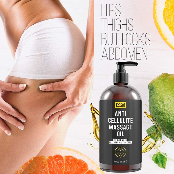 M3 Naturals Anti Cellulite Massage Oil