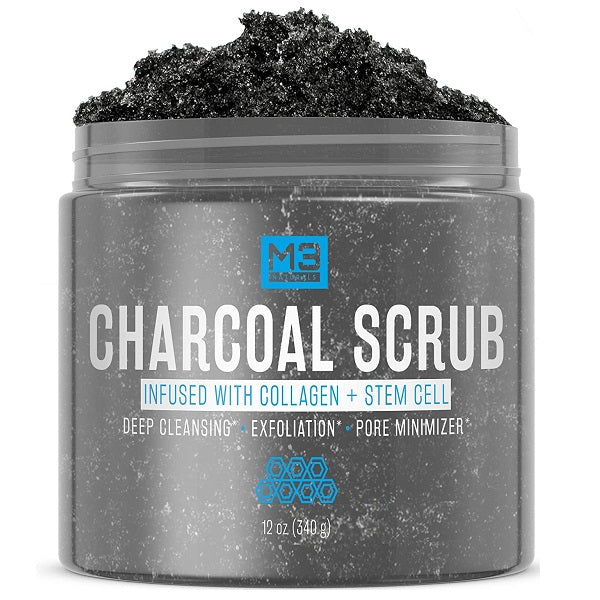 M3 Naturals Charcoal Scrub w/ Collagen + Stem Cell