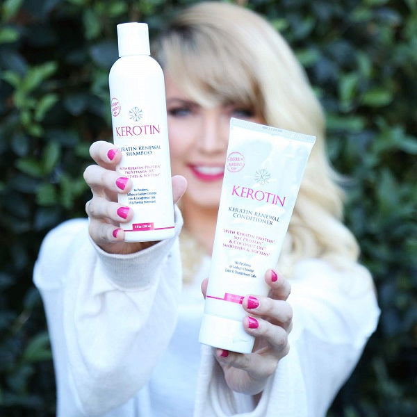 Kerotin Keratin Renewal Shampoo & Conditioner Combo - bodytonix