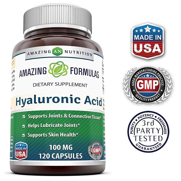 Amazing Nutrition Hyaluronic Acid 120mg Capsules