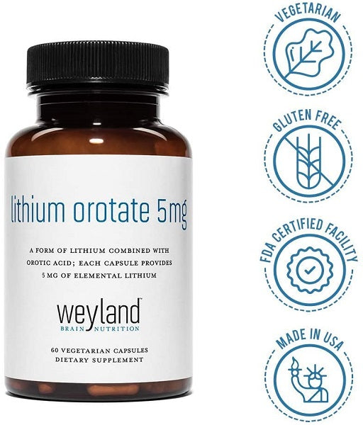 Weylands Lithium Orotate 5mg
