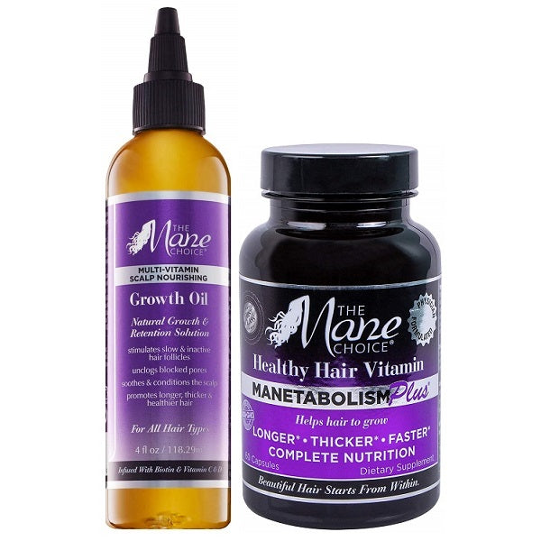 Manetabolism Hair Vitamins + Growth Oil