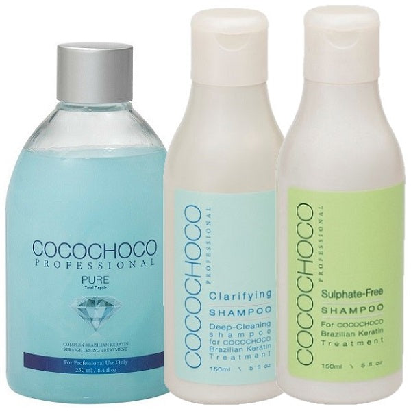 Cocochoco Pure Keratin Treatment + Shampoo + Conditioner