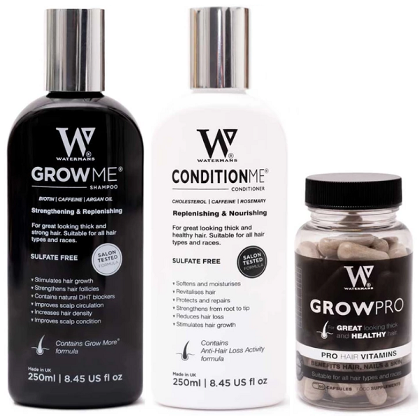 Watermans Shampoo & Conditioner Set + Hair Growth Vitamins - bodytonix