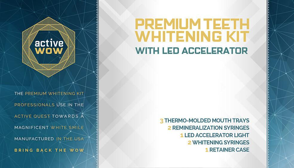 Premium Teeth Whitening Kit with LED Accelerator - bodytonix