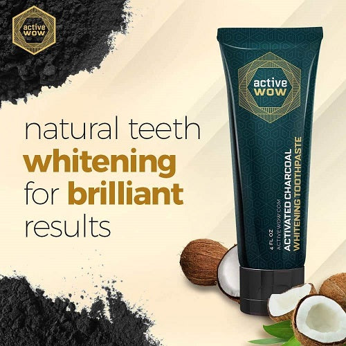 Activated Charcoal Whitening Toothpaste - bodytonix