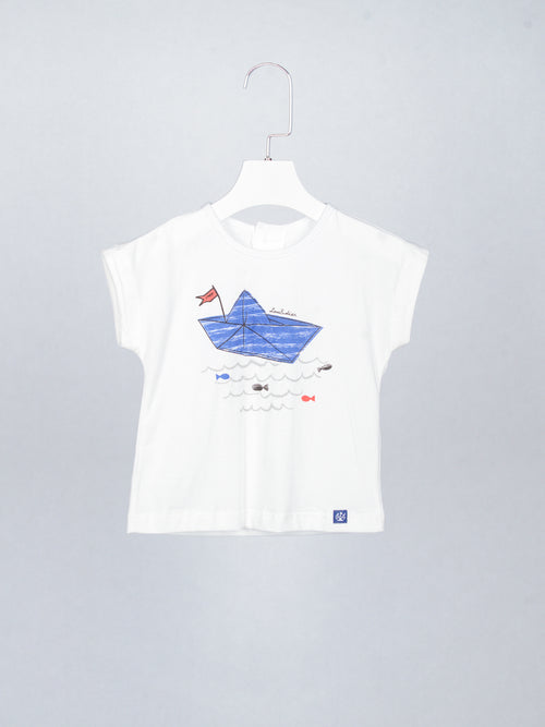 Blue Boat Tee