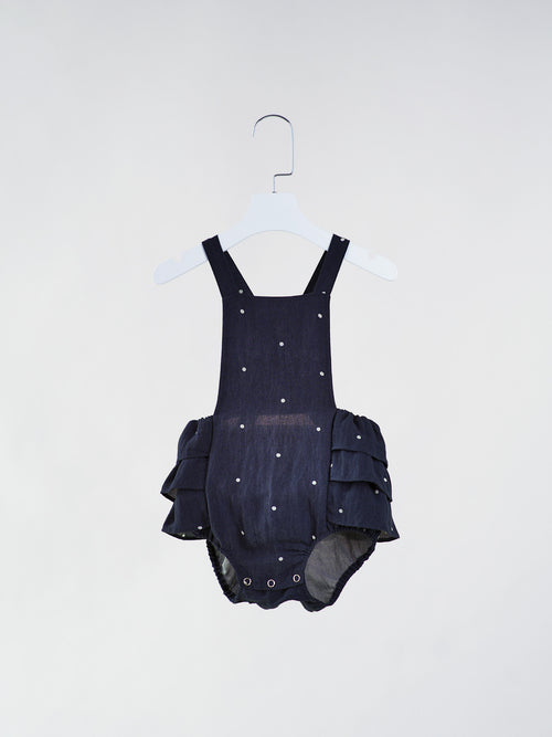 Ellie Cross Back Navy Blue Onesie