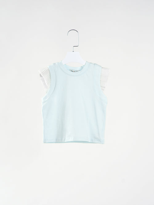 Serena Pleats Sleeve Mint Top
