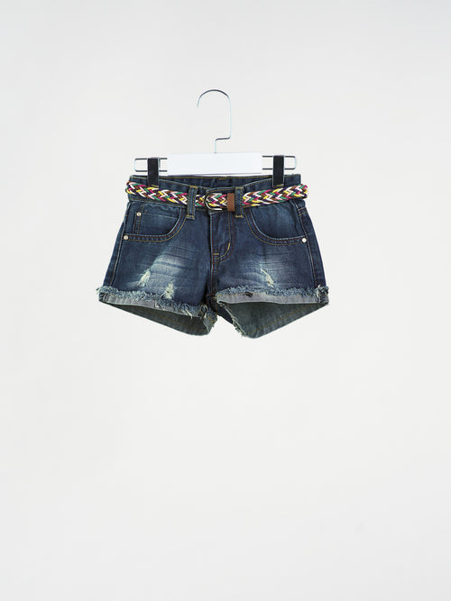 Chelsea Denim Shorts with Belt