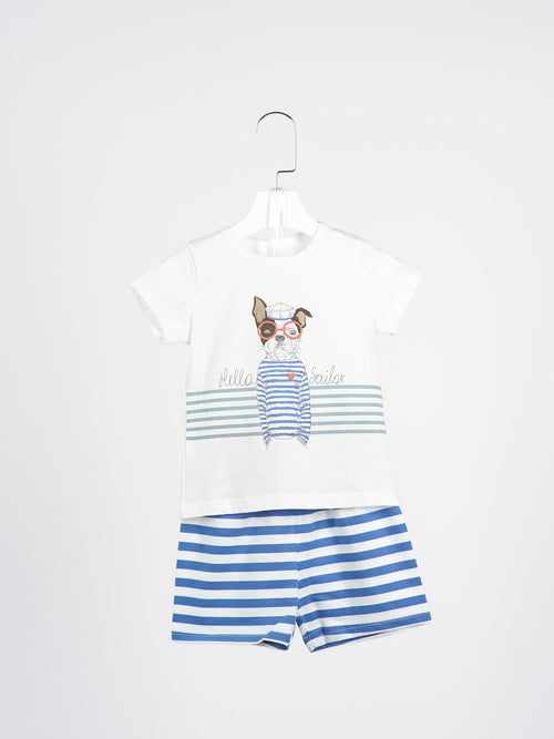 Mark Sailor Tee & Shorts
