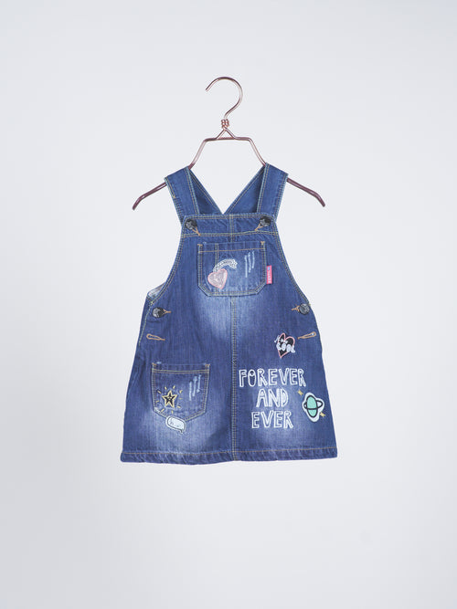 Savannah Denim Jumper Dress