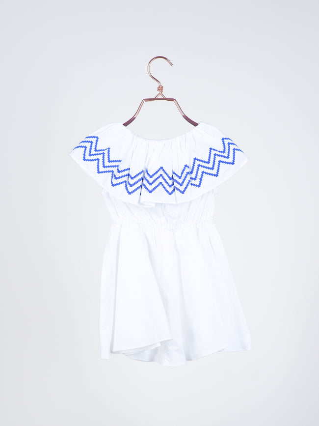 Tessa Off Shoulder Embroidery Dress