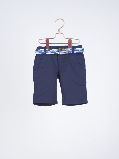 Cooper Navy Blue Berms with Belt