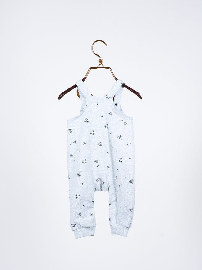 Asher Reindeer Overall in Navy Blue