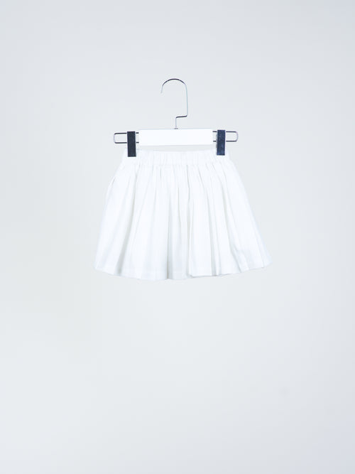 Camille White Pleated Skirt