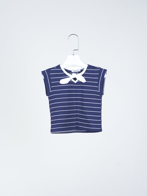 Iris Navy Striped Tee