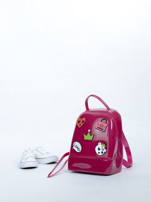 Jelly Burgundy Bag w. Patch Logos