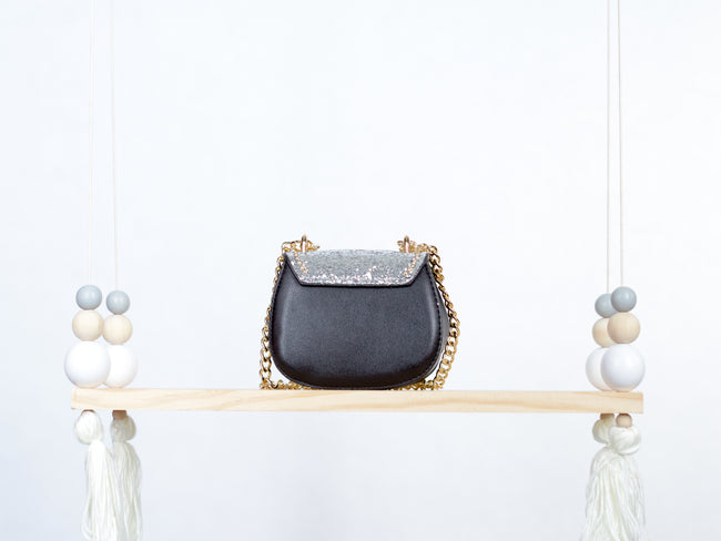 Silver Studded Leather Handbag