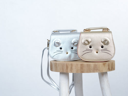 Oh hello mouse! Handbag in Silver