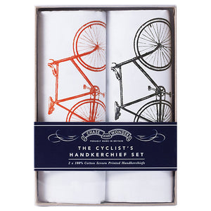 Chase and Wonder The Cyclist's Handkerchief Set, Pack of 2, White