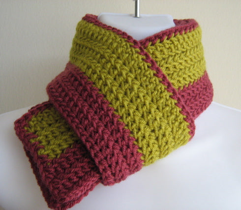 Hand Knitted Winter Scarf