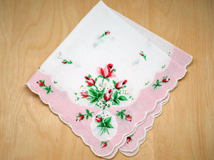 Vintage Inspired Sweetheart Rose Print Hankie