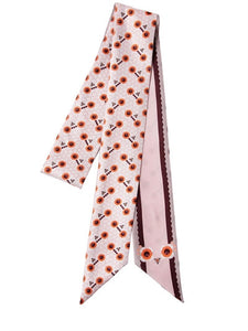 FENDI  SILK WRAPPY FLOWER PRINT SCARF
