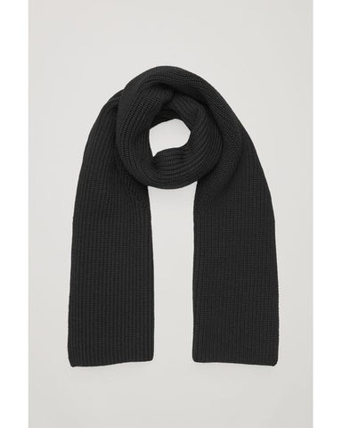 Black Merino Wool Scarf
