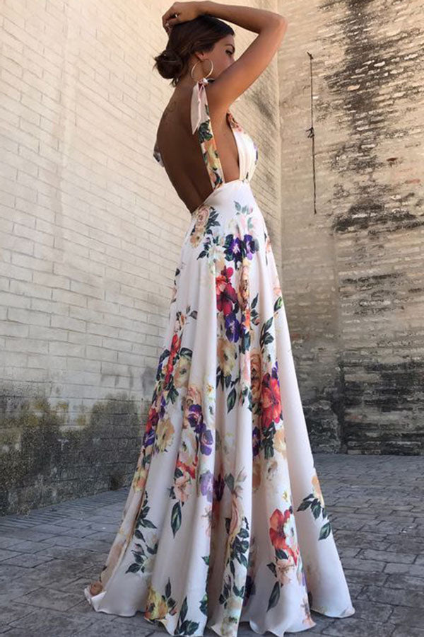 0a4d1fcfb Sexy New Backless Floral Print Maxi Dress – PINKSIA