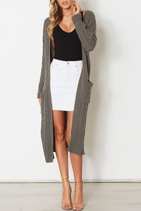 Loose Long Sleeve Knit Sweater Cardigan