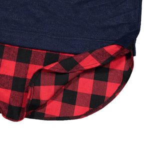 Fashion Plaid Stitching Shirt