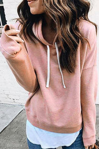 Fashion Solid Color Casual Hoodies