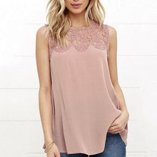 Decorative Lace  Plain Sleeveless T-Shirts