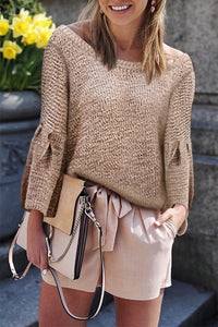 Loose Trumpet Sleeve Sweater