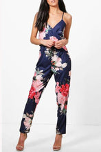 Sexy Halter Strap Printed Jumpsuit