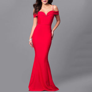 Sexy Off The Shoulder Bodycon Fishtail Evening   Dress