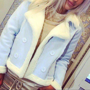 Winter Warm Fleece Sherpa Crop Jacket Outerwear