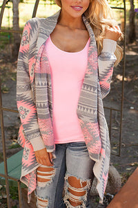 Fashion Printed  Long Sleeve Cardigans