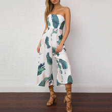 Off Shoulder  Push Up  Smocked Bodice  Abstract Print  Sleeveless Jumpsuits
