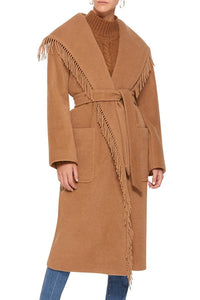 Fashion Camel Tassel Cardigan Outerwear