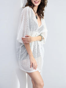 Deep V-Neck Sleeve Tunic