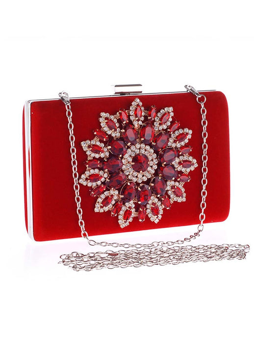 Faux Crystal Rhinestone Evening Clutch Bag