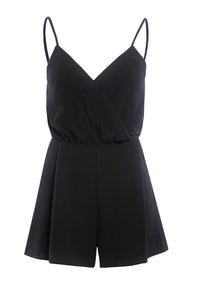 Sexy Spaghetti Strap  Plain  Playsuits