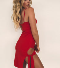 Adjustable Straps Split Sexy Evening Dress