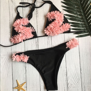 Sexy Sweet Flower Bikini Swimwear