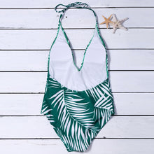 V-Neck Sexy Printed One-Piece Swimsuit